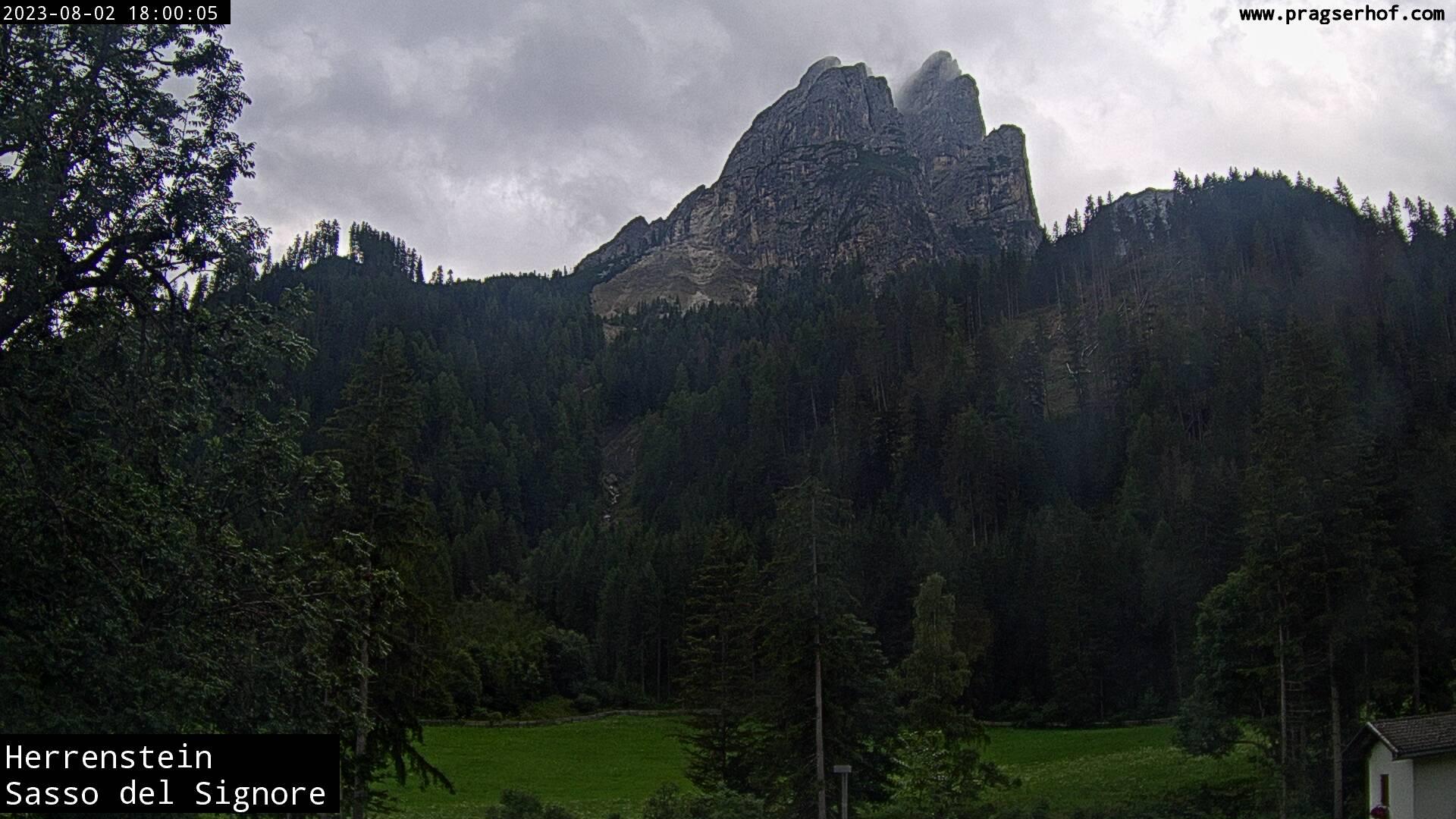 Webcam con vista su San Vito a Braies